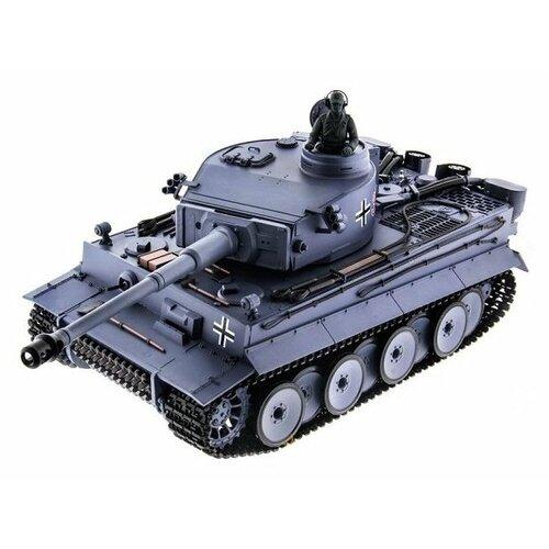Танк Heng Long Tiger I (3818-1PRO) 1:16 52 см серый танк heng long dak pzkpfw iv ausf f 1 3858 1pro 1 16 40 3 см бежевый