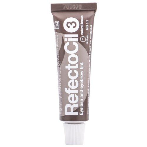 RefectoCil Краска для ресниц и бровей 3, natural brown краска для ресниц 15 мл refectocil refectocil
