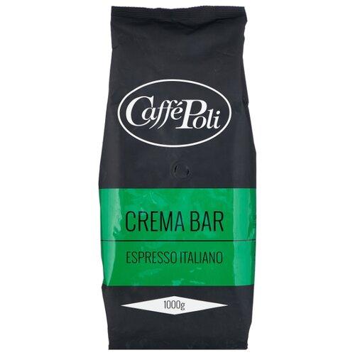 Кофе в зернах Caffe Poli Crema Bar, арабика/робуста, 1 кг кофе в зернах caffe carraro crema italiano 1 кг