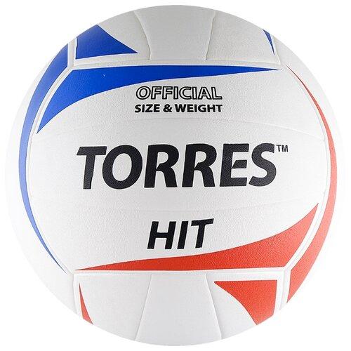 Волейбольный мяч TORRES HIT белый/красный/синий
