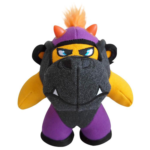 Игрушка для собак GiGwi Duraspikes Обезьянка маленькая (75446) желтый/серый/фиолетовый