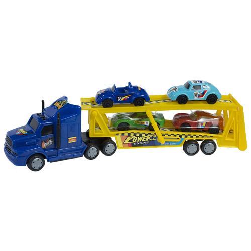 Набор машин ToyBola TB-005 желтый/синий/голубой/зеленый/красный набор ермак 662 005 древесный красный