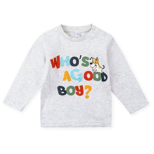 Купить Лонгслив playToday размер 68, светло-серый, Футболки и рубашки