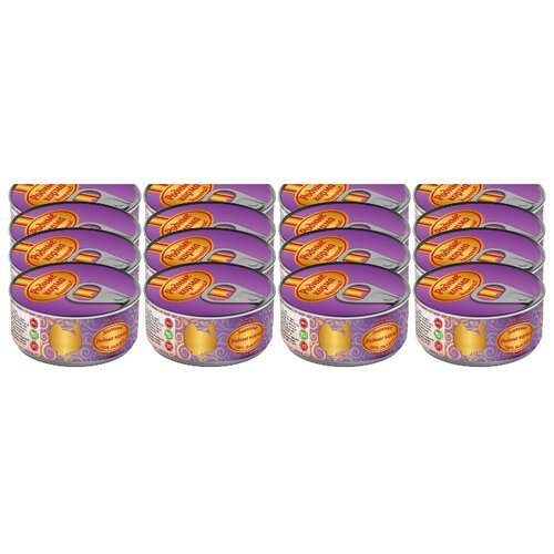 Корм для собак Родные корма (0.1 кг) 24 шт. Знатные консервы 100% индейка для щенковКорма для собак<br>