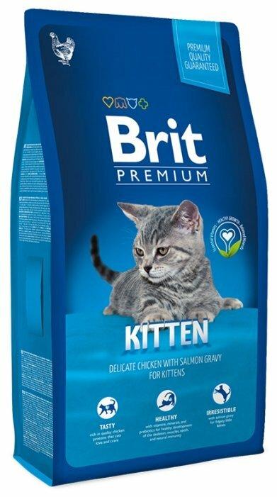 Корм для котят Brit Premium с курицей, с лососем в интернет-магазинах — цены на Яндекс.Маркете