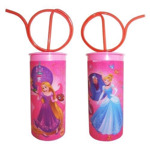МФК Стакан Disney Принцессы с крышкой и витой трубочкой 330 млБокалы и стаканы<br>