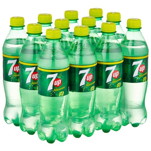Газированный напиток 7UP Лайм-Мята, 0.5 л, 12 шт.