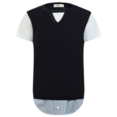 Футболка Paolo Pecora размер 128, синий/белый футболка paolo pecora размер 128 белый