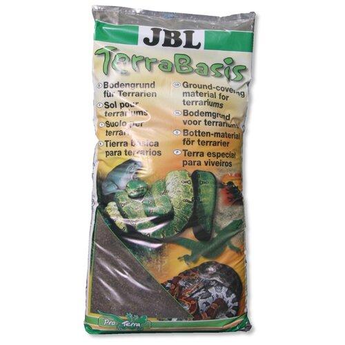 Грунт JBL TerraBasis 20 л, 9.5 кг коричневый буковая щепа jbl terrawood для сухих и полусухих террариумов 20 л