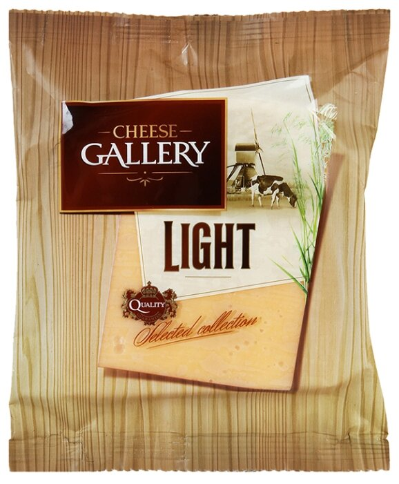 Сыр Cheese Gallery Light 20% кусковой, 250г
