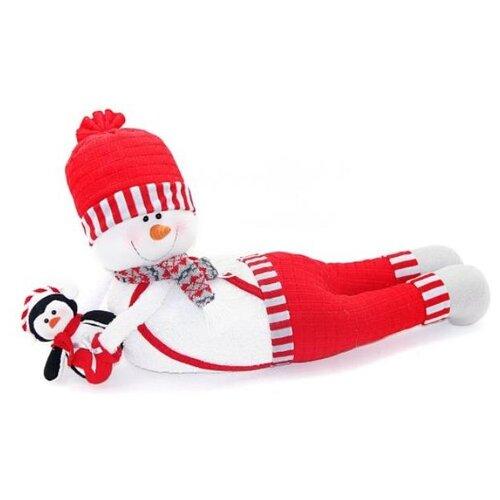 Фигурка Новогодняя Сказка Снеговик-весельчак 66 см красный фигурка новогодняя magic time снеговик и список подарков высота 8 см