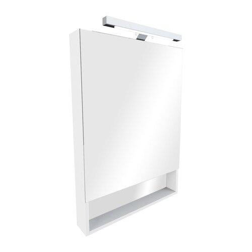 Шкаф-зеркало для ванной Roca Gap 60, (ШхГхВ): 60х12.9х85 см, белый глянцевый мебель для ванной roca gap 70 белый