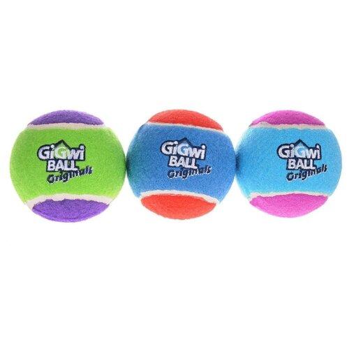 Мячик для собак GiGwi GiGwi ball Original средний 3 шт (75338) голубой/красный/фиолетовый