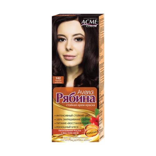 Фото - Acme-Color Avena Рябина стойкая крем-краска для волос , 142 Черный Шоколад acme color intence рябина краска для волос 111 мокрый песок