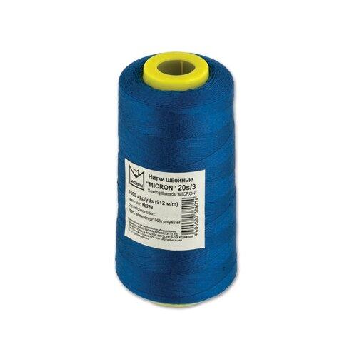 Купить Micron Швейная нить 1000 ярд (20s/3), 288 синий 912 м, Нитки