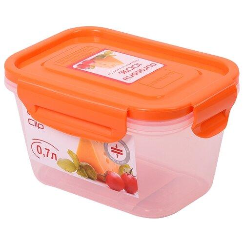 Oursson Контейнер CP0704S, оранжевый/прозрачный oursson контейнер cp1304s оранжевый прозрачный