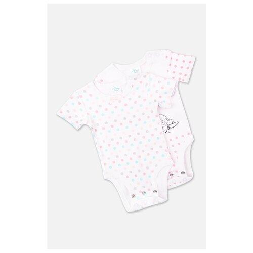 Купить Боди playToday размер 68, белый/розовый/голубой