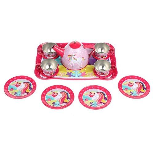 Набор посуды Mary Poppins Единорог 453171 красный/розовый