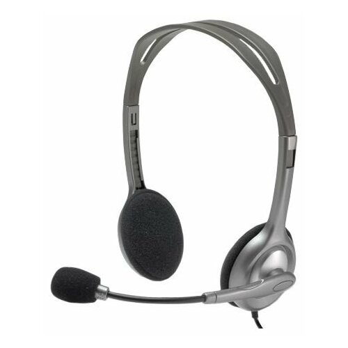 Компьютерная гарнитура Logitech Stereo Headset H110 черный/серый цена 2017