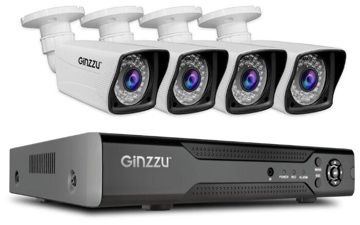 Комплект видеонаблюдения Ginzzu HK-445D 4 камеры