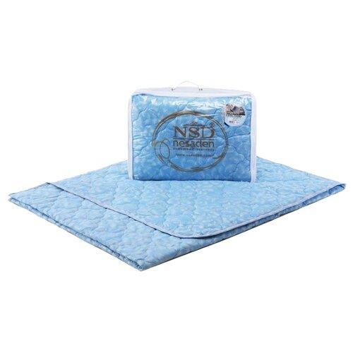 Одеяло НеСаДен Престиж Лебяжий пух 150 г/м2 голубой 215 х 240 смОдеяла<br>
