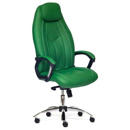 Компьютерное кресло TetChair Босс, обивка: искусственная кожа, цвет: зеленый компьютерное кресло tetchair барон обивка искусственная кожа цвет бежевый