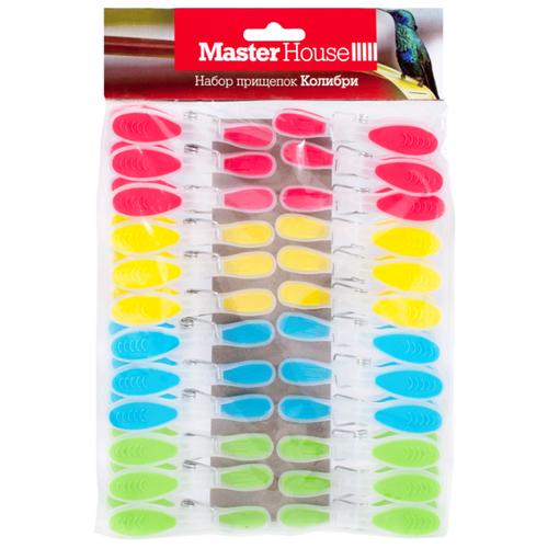 Master House прищепки Колибри 24 шт. розовый/желтый/голубой/зеленый