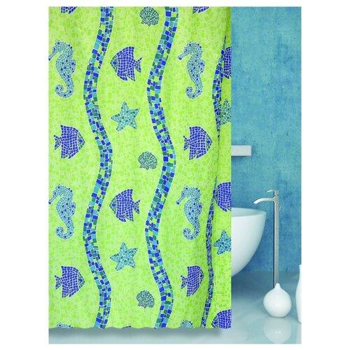 Штора для ванной Bath Plus Coral Reef 180х180 зеленый мыльница bath plus bath plus mp002xu02qo3