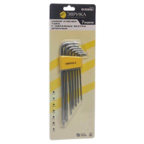 Набор имбусовых ключей Эврика (7 предм.) ER-25107XLT желтый