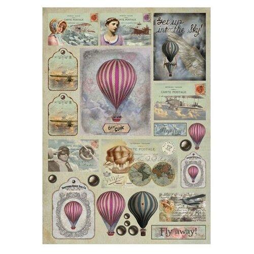 Купить Карта для декупажа Fly away 50 х 70 см 1 лист, Stamperia, Карты, салфетки, бумага