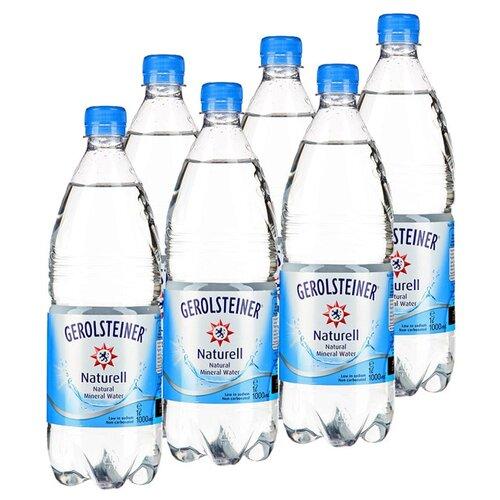 Вода минеральная Gerolsteiner Naturell негазированная, ПЭТ, 6 шт. по 1 лВода<br>