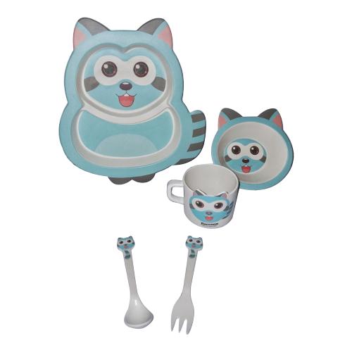 Комплект посуды Baby Ryan Енотик (BF020) голубой