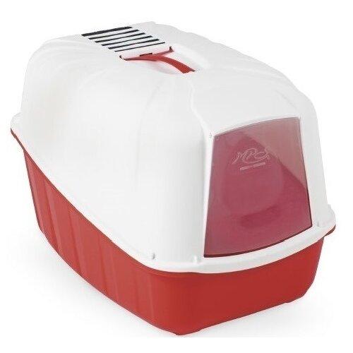 Туалет-домик для кошек MPS Komoda 54х39х40 см красный