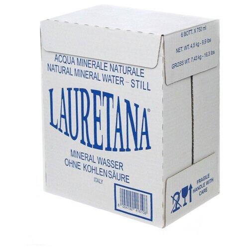 Вода минеральная Lauretana Blue негазированная, стекло, 6 шт. по 0.75 л