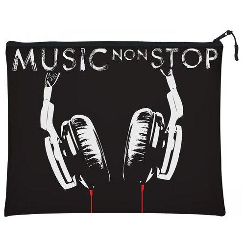 Bruno Visconti Папка на молнии Music non stop А4 черный набор non stop черный