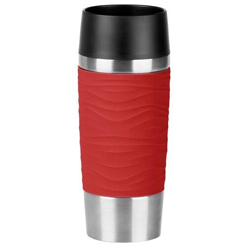 Фото - Термокружка EMSA Travel Mug Waves, 0.36 л красный термокружка emsa travel mug grande 0 5 л красный