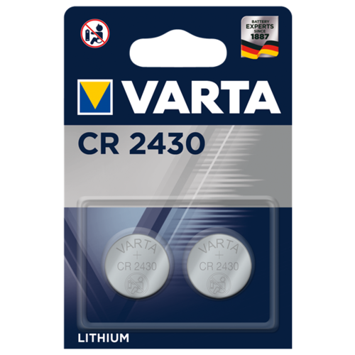 Фото - Батарейка VARTA CR2430 2 шт блистер батарейка v13 ga varta lr44 sr44 v357 ag13 zn mno2