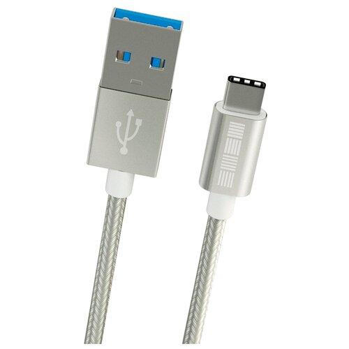 цена на Кабель INTERSTEP USB - USB Type-C (IS-DC-TYPCUS) 2 м серебристый