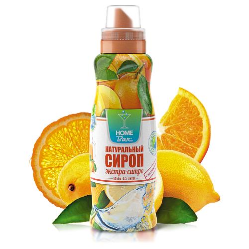 Сироп Home Bar Натуральный сироп Экстра-ситро 0.5 л