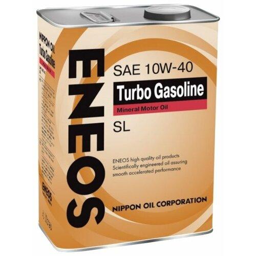 Моторное масло ENEOS Turbo Gasoline SL 10W-40 4 л 5w30 легковое масло моторное eneos super gasoline sl 5 30 200 л