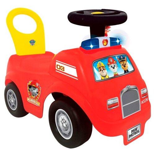 Фото - Каталка-толокар Kiddieland Щенячий патруль Пожарная машина KID 056978 красный каталка толокар kiddieland гонщик молния маккуин 055459 со звуковыми эффектами красный