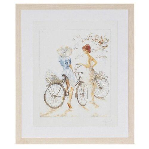 Купить Lanarte Набор для вышивания Велосипедистки 39 x 49 см (0007949-PN), Наборы для вышивания