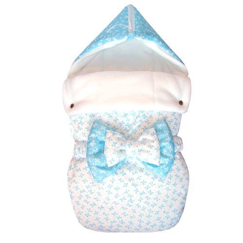 Конверт-мешок СуперМаМкет JustCute демисезонный с бантом 68 см ромео/белыйКонверты и спальные мешки<br>