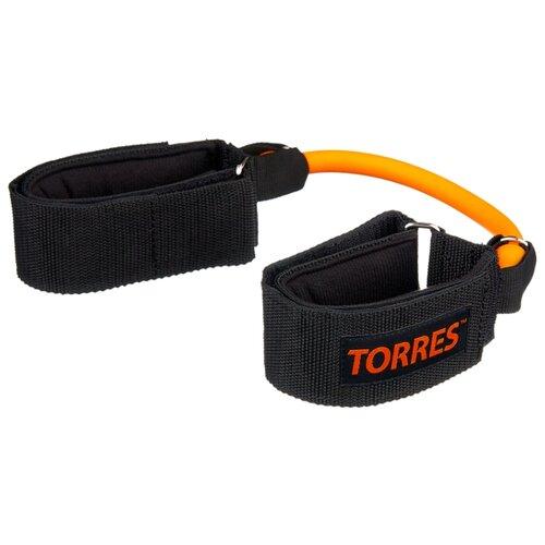 Эспандер для лыжника (боксера, пловца) TORRES AL0031 27 см черный/оранжевый эспандер для лыжника боксера пловца starfit es 901 6 кг 220 см синий черный