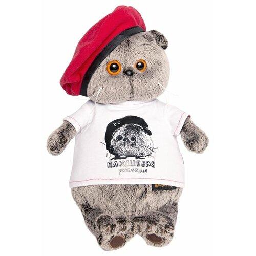 Купить Мягкая игрушка Basik&Co Кот Басик в футболке Плюшевая революция 22 см, Мягкие игрушки