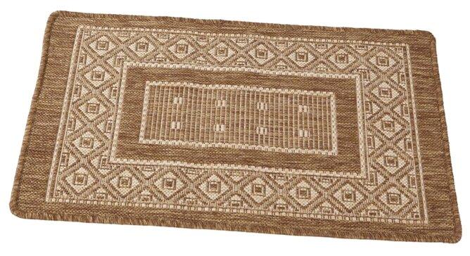 Придверный коврик RemiLing Джут 3, размер: 1х0.6 м, коричневый/бежевый