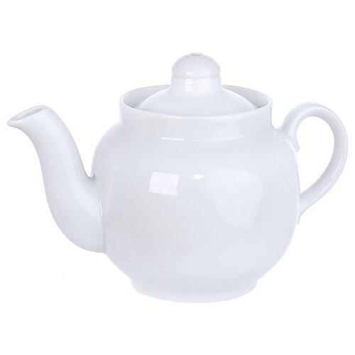 Дулёвский фарфор Заварочный чайник Янтарь 350 мл белый
