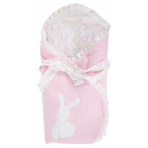 Конверт-одеяло Leader Kids Зайка с сердцем розовый