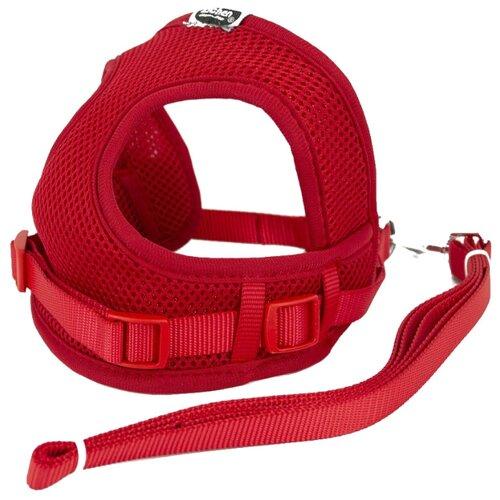 Шлейка с поводком Удачная покупка P0029 красный удачная покупка щетка для чистки одежды красный