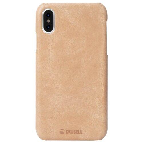 Чехол Krusell Sunne Cover для Apple iPhone X/Xs бежевый  - купить со скидкой